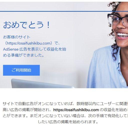 雑多なブログでも、対策をすれば Google Adsense の審査に合格できました!